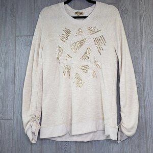 Democracy Sequin Embellished Sweatshirt Medium